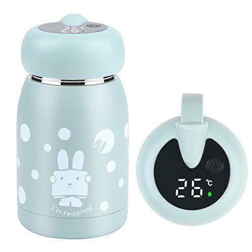 Flintronic Reisebecher Auslaufsicherer Smart-Becher für Kind, 320 ml mit LED-Temperaturanzeige, Vakuum-Trinkflaschen aus Edelstahl 304, Sport-Trinkflasche für zu Hause und im Büro