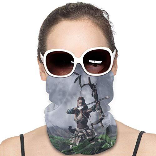Quintion Robeson Horizon Zero Dawn Sports Riding Mask Headwear Face Scarf Cover Unisex Outdoor Headband Turbante Cuello a Prueba de Viento Bandana Black HDW-002
