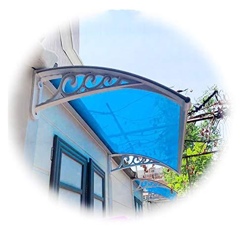 JIANFEI MarquesinaPuertaExterior, Pabellón De Techo Exterior, Cubierta Extensible para Lluvia Y Nieve, Refugio Impermeable De La Terraza del Patio, Personalizable (Color : Blue, Size : 60X120CM)