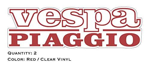 SUPERSTICKI Superstiki Vespa Piaggio logo letters 20 cm Sticker, Scooter, Auto Sticker, Muursticker, Professionele kwaliteit voor verf, ramen, enz. Wasstraatbestendig.