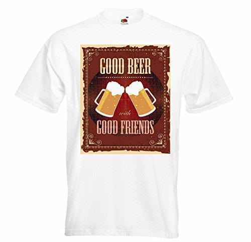T-shirt Remera Buena Bier Buen Amigo Bier Weizenbier zijde bierbierglas alcoholspiegel bierparty vodka wijn witte wijn