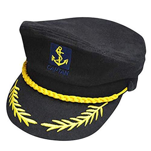 Capitaines Chapeau Hommes Femmes Noir Blanc - Déguisement pour Adultes & Enfants - Parfait pour le Carnaval - Taille Unique (D)