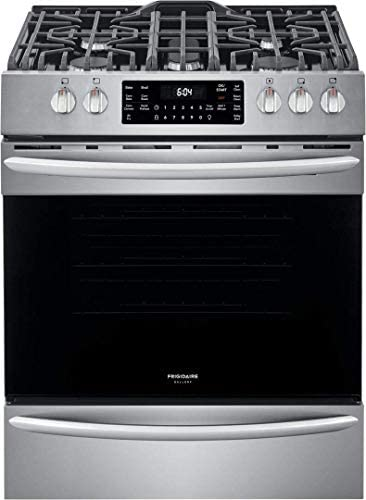 Frigidaire FGGH3047VF 30 Gallery Series Gas Range with 5 Sealed Burners griddle True Convection product image