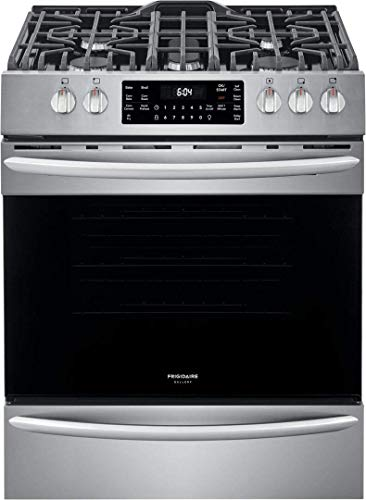 "Frigidaire FGGH3047VF 30"" Gallery Series Gas Range with 5 Sealed Burners, griddle, True Convection Oven, Self Cleaning, Air Fry Function, in Stainless Steel"
