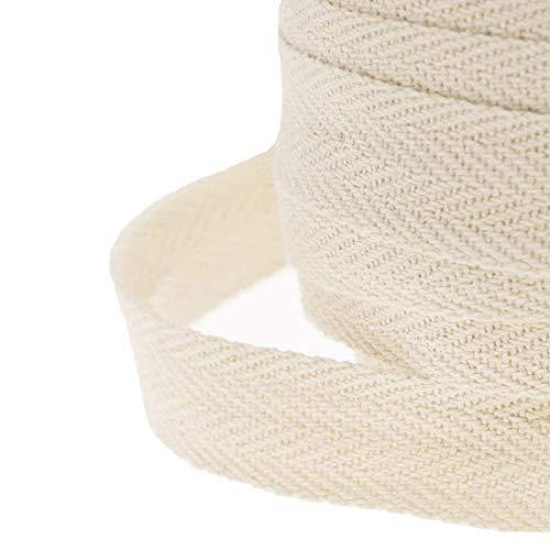 Rollo de cinta para costura, WareHouseShop, de 10, 20, 50m, hecho de algodón, algodón, beige, 50 Meter (25mm)