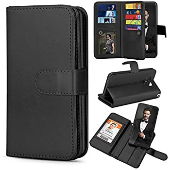 TILL for LG G6 Case TILL LG G6 [PU Leather] Flip Wallet Case [Cash & Card Slot Holder] [Kickstand] Detachable Magnetic Folio Protective Case Cover [Black]
