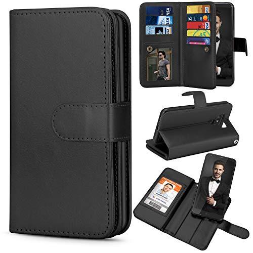 TILL for LG G6 Case, TILL LG G6 Wallet Case PU Leather Carrying Flip Cover [Cash Credit Card Slots Holder & Kickstand] Detachable Magnetic Folio Slim Protective Hard Case Shell for LG6 5.7INCH [Black]