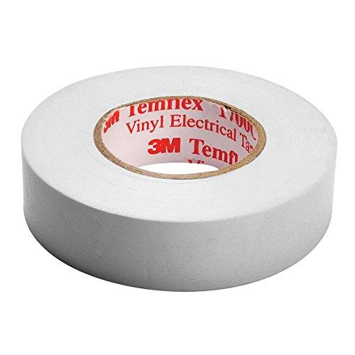 3M Temflex 1500 Vinyl Elektro-Isolierband, 15 mm x 10 m, 0,15 mm, Weiß