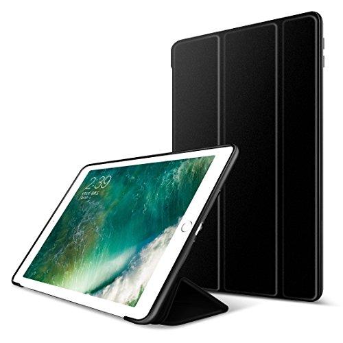 iPad Air 2 Hülle,GOOJODOQ iPad Air 2 PU Leder Etui Hülle Tasche mit Ständer Funktion & Eingebautem Magnet für Einschlaf/Aufwach Shockproof Silikon Weicher TPU Folio Hülle für Apple iPad Air 2