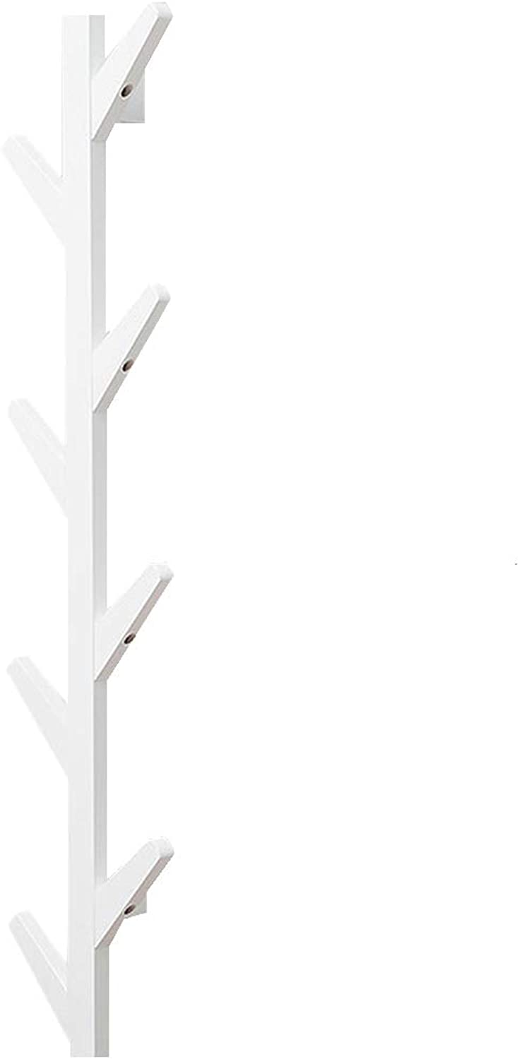 Coat Racks Standing Hangers Coat Rack Bamboo Clothes Hook Dorm Room Bedroom on The Wall Wall-Mounted Hook Hanger Multifunction The Shape of Tree Branches White Multifunction Storage Shelf
