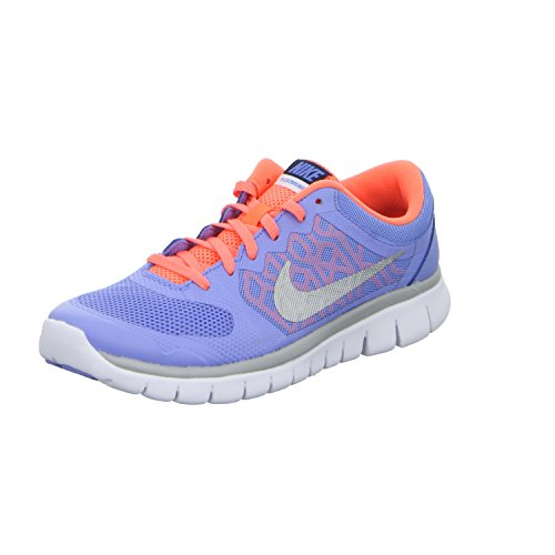 Nike Unisex-Kinder Flex 2015 Run (GS) Laufschuhe, Mehrfarbig (Chalk Blue/Metallic Silver/Obsidian White 401), 38.5 EU