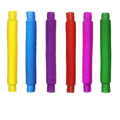 Pop Tubes Toys 12 Pack Juguetes sensoriales Coloridos Juguetes para aliviar el estrés para niños Favores de Fiesta