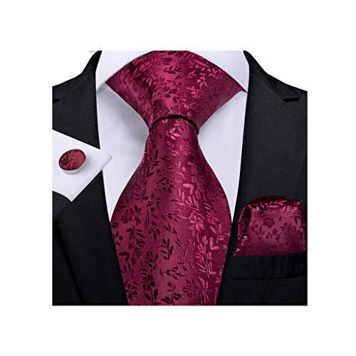 NXYJD Moda Hombres Corbata Corbata de Boda de Seda para Hombre diseñador de Regalo Conjunto (Color : B)
