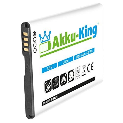 Akku-King Akku kompatibel mit Huawei HB4W1, HB4W1H Li-Ion 1800mAh - für Ascend G510, Ascend Y210, Y530, T8951, U8951D, C8813