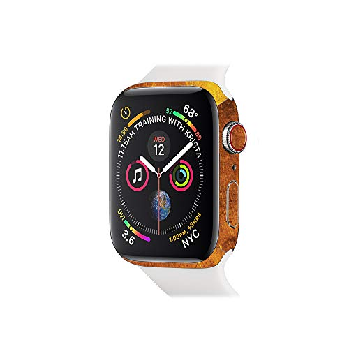 MightySkins Skin Compatible with Apple Watch Series 4 & 5 & 6 40mm - Textured Gold Protective, Durable, and Unique Vinyl Decal Wrap Cover Easy to Apply, Remove, and Change Styles Made in The USA