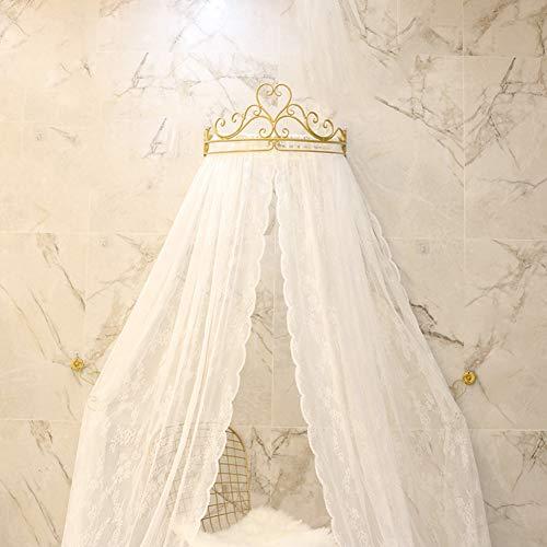 KID LOVE Princesa De La Corona Mosquito,Dosel De Cama Rosa Cúpula Netting Cortinas para Niñas Niños Caliente En Instagram-a