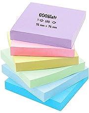 """Stickers pastel 3x3"""", 6 pads notitieblaadjes zelfklevende set, plakbriefjes kleurrijk voor kantoor, school en thuis, 600 vellen in totaal"""