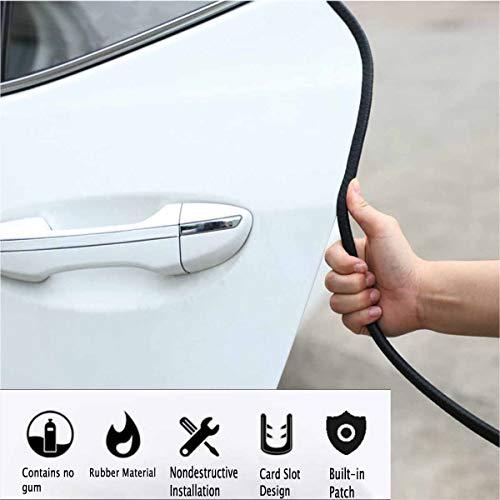Full Size 24 Feet Chrome U Shape Car Door Edge Guard Trim