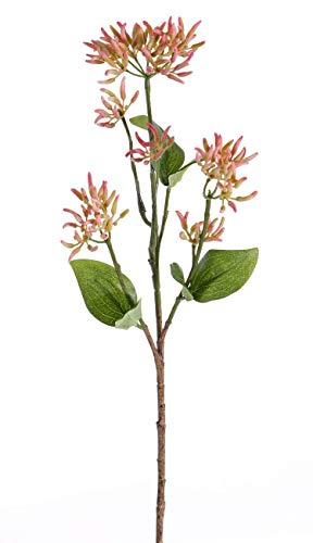 artplants.de Ramo di corniolo Finto JOSIA con boccioli, Rosa-Verde, 50cm - Corniolo Artificiale - Pianta Finta