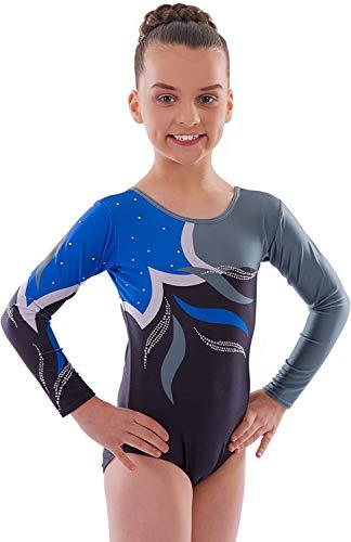 Adagio Justaucorps de gymnastique à manches longues pour filles, idéal pour la danse et la gymnastique (12–13 ans, manches longues)