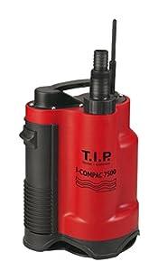 TIP Bomba Sumergible de Agua Sucia Drenaje I de Compac 7500, hasta 7.500L/h caudal