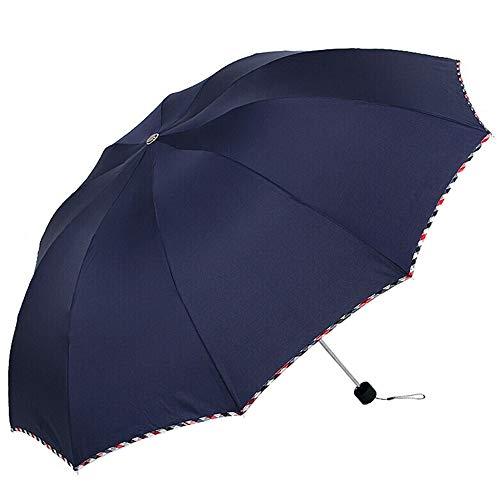 skoy iyue Regenschirm, Kreativ, Zehn Knochen, Regen Und Regen, Vermehren, Falten, Regenschirm Werben,Navy