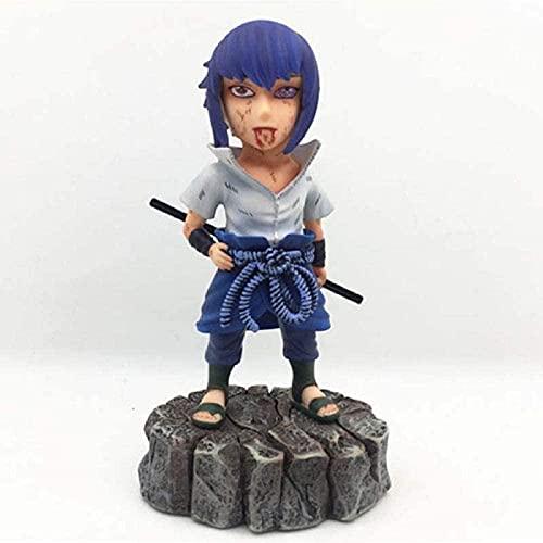 Gddg Anime Toy Anime Naruto Shippuden Uchiha Sasuke Sharingan Ver PVC Figura de acción Collector...