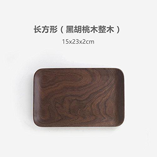 Bezigeorey Bois De Noyer Noir Japonais Carrés Collations Les Collations De Fruits Snack-Lave Lave Vaisselle,en Hêtre 15X23 Oblong (Noyer Noir, Ensemble De Bois)