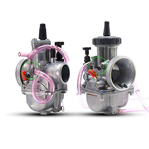 De Galen Carburadores universales PWK28 33 35 36 38 mm Carburador/ajuste para – KEIHIN / 2T 4T Scooter ATV UTV 125CC 250CC 300CC 350CC 400CC 450CC piezas de motor (color: PWK38mm 2T)