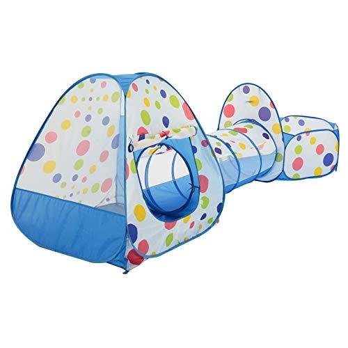 XJZSD Tienda de campaña para niños 3 en 1, Plegable, Piscina de Bolas emergente, Alambre Llamativo, Tela Gruesa, túnel con Bolsa de Almacenamiento, para Uso en Interiores y Exteriores, Regalos