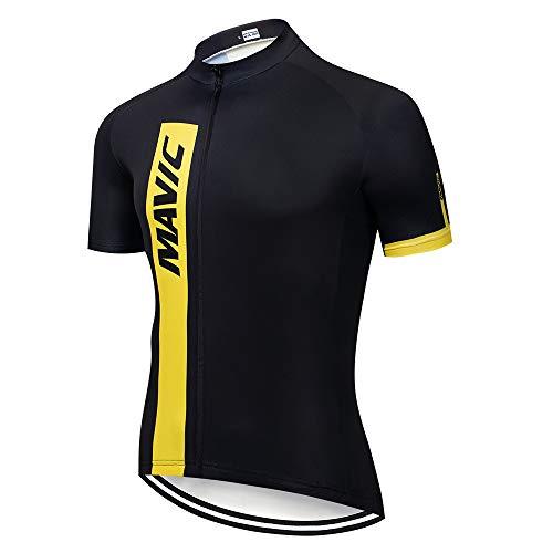 Ciclismo Maillot Verano Maillot MTB Hombre Cortos Camisa Ciclismo de Ropa para Deportes al Aire Libre Ciclo Bicicleta