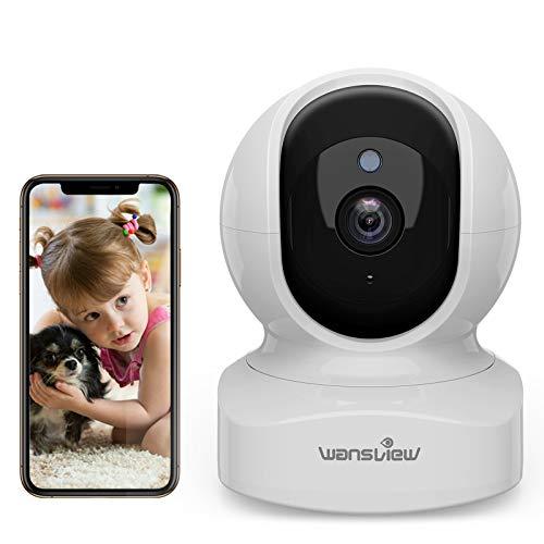 WLAN IP Kamera, Wansview Überwachungskamera WiFi 1080P, Haustier Kamera, Home und Baby Monitor mit Bewegungserkennung, Zwei-Wege-Audio, Unterstützt RTSP, Fernalarm und Mobile App Kontrolle Q5 Weiß