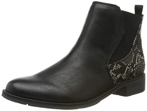 MARCO TOZZI Damen 2-2-25039-33 Chelsea Boots, Schwarz (Black/Snake 051), 42 EU
