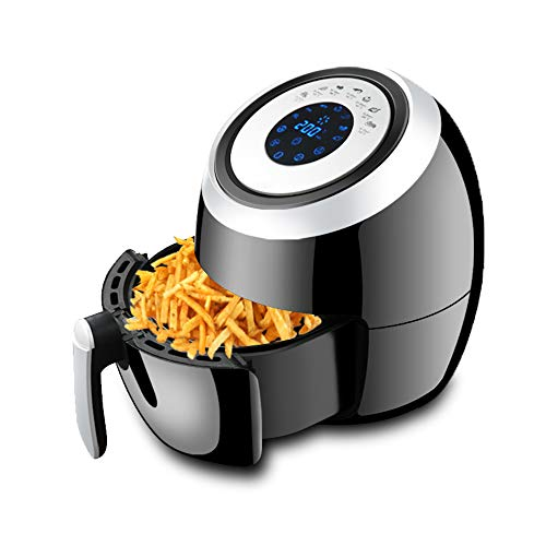 6-Quart Air Fryer Oven with LCD Touch Screen 1500W ETL Listed 110V-120V Oilless Air Cooker with Non-Stick Fryer Basket for Roasting Grilling Reheating Dishwasher Safe