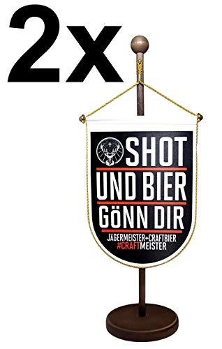 Jägermeister Wappen Wimpel Aktion - 5 Stück