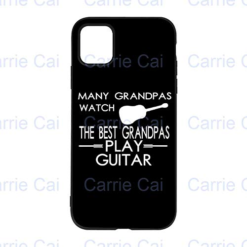 Many Grandpas Watch TV Best Grandpas Play GuitariPhone 11 Pro Phone Case, Scratch-Resistant, Shockproof, Anti-Fingerprint, Transparent Phone Case, Black/White Phone Case for iPhone 11 Pro