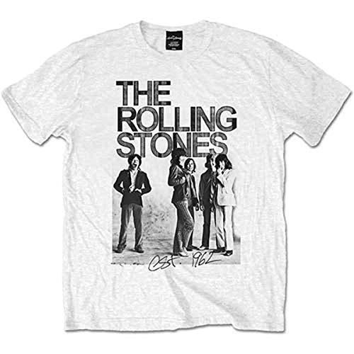 Rolling Stones EST 1962 Group Manches Courtes, Blanc (White), XXL Homme