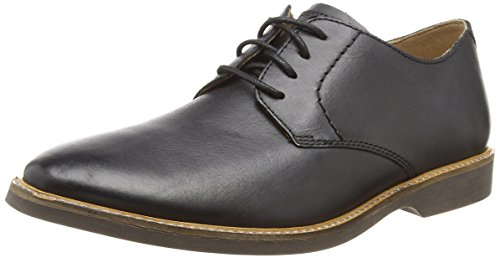 Clarks Atticus Lace, Zapatos de Cordones Derby para Hombre, Negro (Black Leather), 40 EU