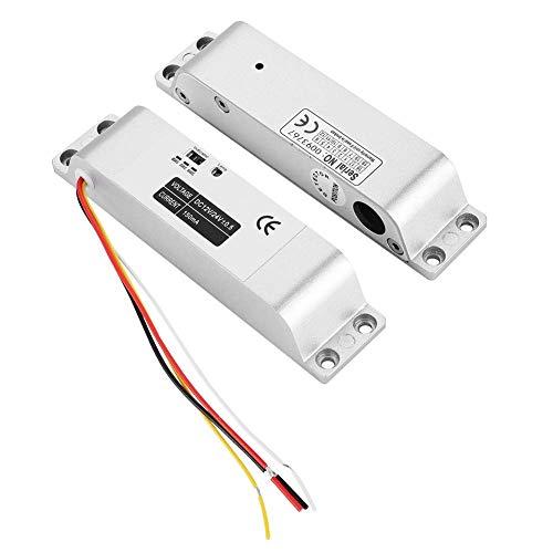 SHKUU Cerradura eléctrica de Puerta abatible DC12V 1000KG, Control de Acceso de Entrada de Puerta de inducción magnética, Adecuado para Puerta de Madera Puerta de Metal Puerta cortafuego antirrobo