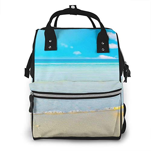 Shichangwei Mochila Escolar Diaper Bag Backpack Travel Bag Large Multifunction Waterproof Starfish and Ocean Stylish and Durable Nappy Bag for Baby Care School Backpack