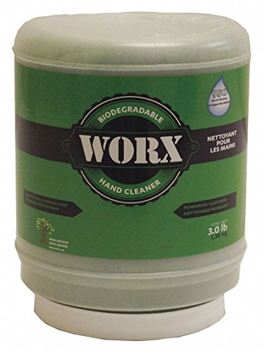 Worx All-Natural Hand Cleaner 11-1300 All Natural Powdered Hand Soap, Btle, 3lb, Green