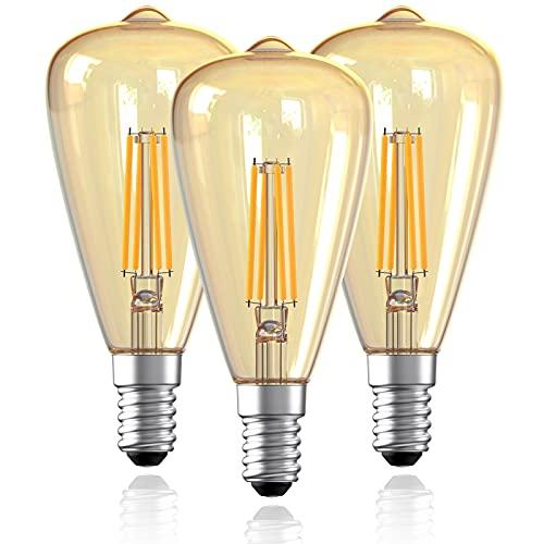 Gorssen Edison Vintage Glühbirne,Edison LED Lampe Warmweiß ST48 E14 Retro Glühbirne Vintage Antike Glühbirne Ideal für Nostalgie und Retro Beleuchtung im Haus Café Bar usw - 3 Stück