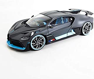 Bugatti Divo Matt Gray with Blue Accents 1/18 Diecast Model Car by Bburago 11045
