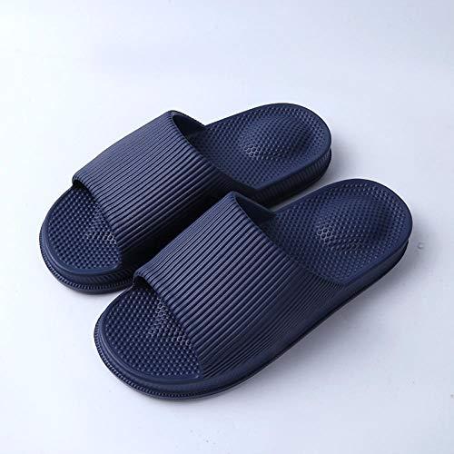 Nwarmsouth Zapatillas de Masaje para Mujer, Zapatillas de Masaje para baño, Sandalias Antideslizantes de Suela Gruesa, Azul Marino_41-42, Zapatillas para Mujer/Hombre