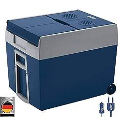 Mobicool W48 AC / DC - elektrisk køler med hjul, der er velegnet til en komplet kasse / ølkasse, 48 liter, 12 V og 230 V til bil, lastbil og stikkontakt, A ++
