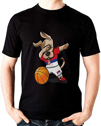 Dog Dabbing Basketball Serbia Jersey Serbian Team Shirt Unisex Tshirt, Short Sleeves Shirt, Long Sleeves Tshirt, Unisex Hoodie, Sweatshirt For Mens Womens Ladies Kids T-Shirt