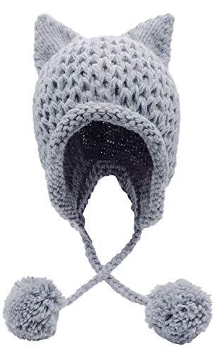 Bellady Winter Cute Cat Ears Knit H…