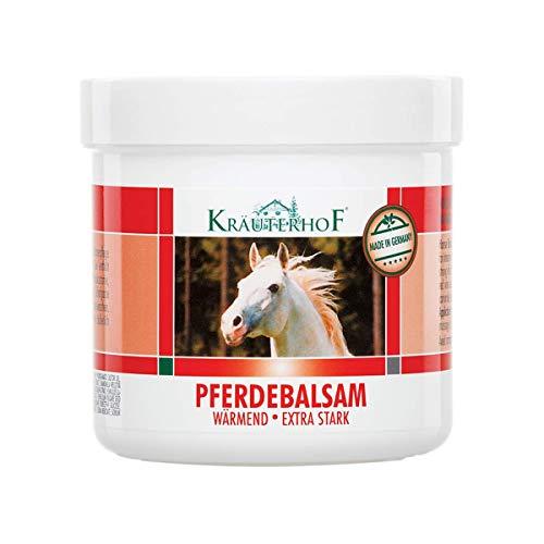 Kräuterhof - Bálsamo de caballo extra fuerte para masaje con extractos de hoja de vid roja y castaño de Indias, 100 ml