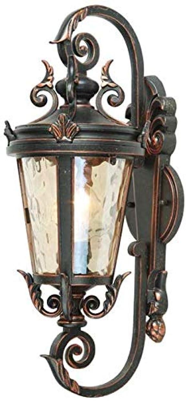 代理人遠洋の酸化するウォール外のアメリカのレトロな壁ランプ屋外の中庭ランタンアンティークガラスコートヤードヴィラウォールポスト壁掛け燭台の装飾ライトのためのセキュリティライトをマウント yppss (Size : H:90cm)