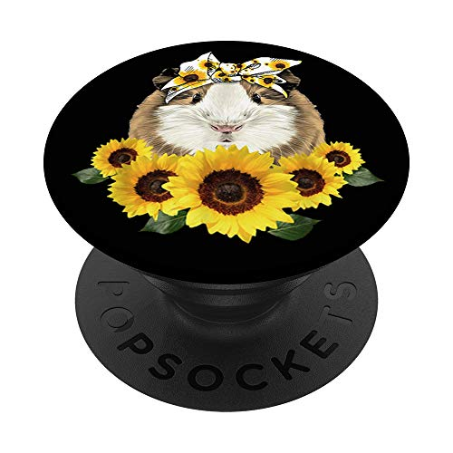 Guinea Pig Headband Sunflower - Guinea Pigs Lovers Fun Gift PopSockets PopGrip: Swappable Grip for Phones & Tablets
